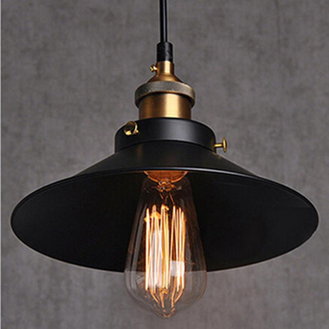 $33.70- Loft Rh Industrial Warehouse Pendant Lights American Country Lamps Vintage Lighting For Restaurant/Bedroom Home Decoration Black