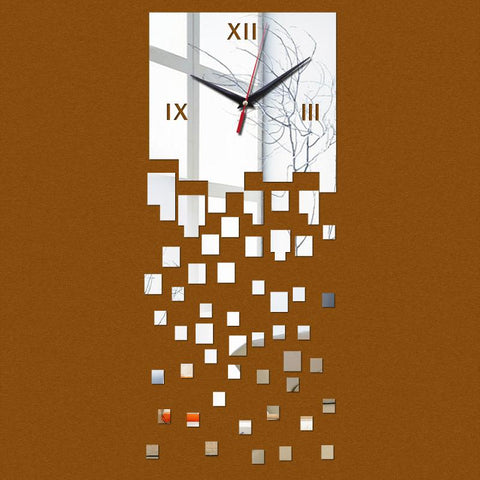 New Wall Clock Home Quartz Clocks Reloj De Pared Horloge Acrylic Hot Mirrored Design 3D Watch Living Room Unique Gifts