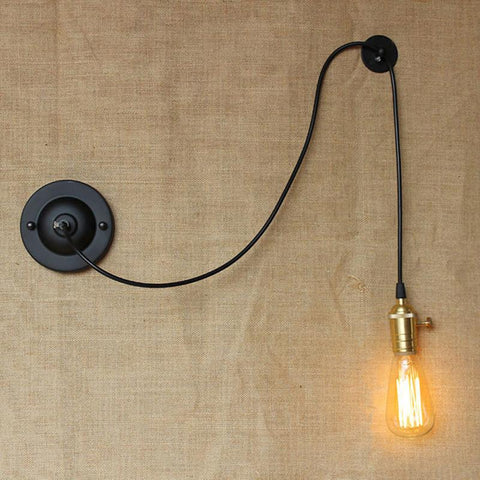 $22.28- Mini Small Wall Lamps Vintage Black Rustic Wall Sconce Lights Retro Loft Industrial Wall Lamp Lamparas De Pared