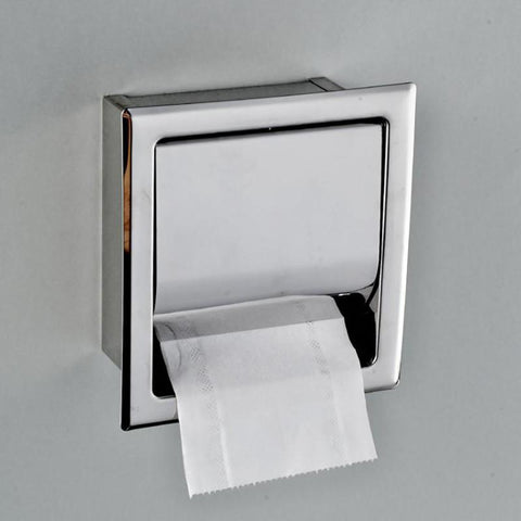 $25.33- Stainless Steel Toilet Paper Holder Polished Chrome Wall Mounted Concealed Bathroom Roll Paper Box Waterproof