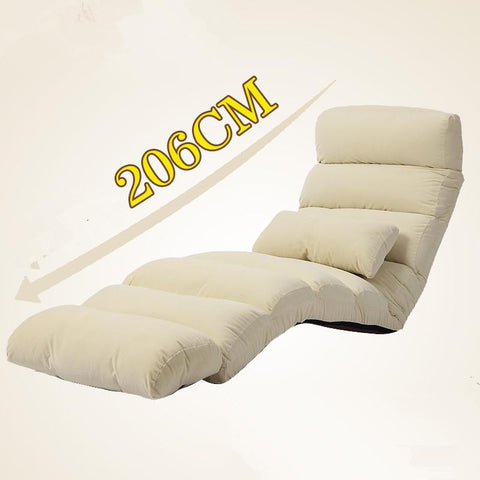 $240.64- Modern Sofa Bed Lounge Upholstered Chaise Indoor Living Room Reclining Chair 5 Color Floor Folding Adjustable Sleep Lounger