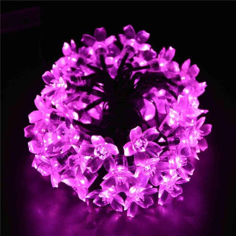 Solar Sun Power Fairy String Lights 7M 50 Led Ledertek Peach Blossom Decorative Garden Lawn Patio Christmas Trees Wedding Party