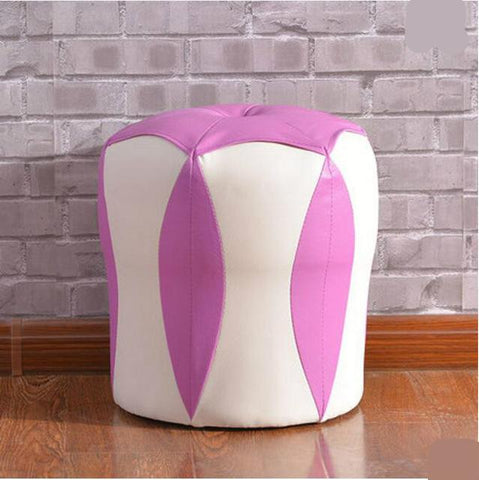 $165.41- High Quality Modern Fashion Small Stool Fashion Creative Household Thickening Shoes Dressing Wood Bench Sofa Leather Stool