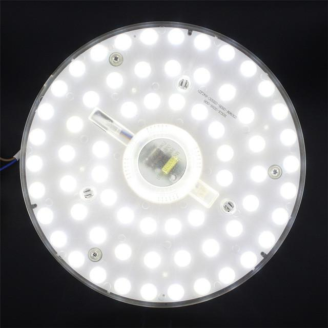 $22.17- 32W Round Led Ceiling Light Replace Plate Panel Board Smd2835 Led Module Ring Magnetic Lamp Plate W/ Magnet Screw Driver