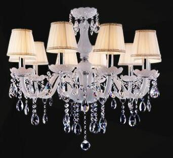 $327.62- Modern Led White Crystal Chandelier Lights Lamp For Living Room Light Ceiling Fixture Indoor Pendant Lamp Home Decorative
