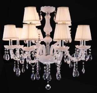 $356.17- Modern Led White Crystal Chandelier Lights Lamp For Living Room Light Ceiling Fixture Indoor Pendant Lamp Home Decorative