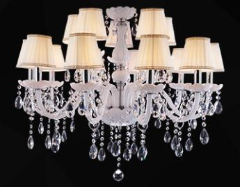 $451.59- Modern Led White Crystal Chandelier Lights Lamp For Living Room Light Ceiling Fixture Indoor Pendant Lamp Home Decorative