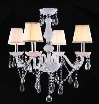 $146.59- Modern Led White Crystal Chandelier Lights Lamp For Living Room Light Ceiling Fixture Indoor Pendant Lamp Home Decorative