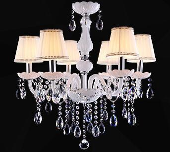 $167.14- Modern Led White Crystal Chandelier Lights Lamp For Living Room Light Ceiling Fixture Indoor Pendant Lamp Home Decorative