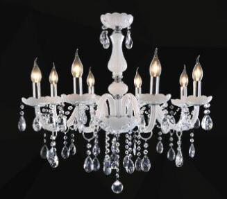 $194.34- Modern Led White Crystal Chandelier Lights Lamp For Living Room Light Ceiling Fixture Indoor Pendant Lamp Home Decorative