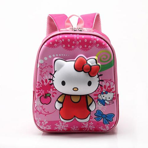 $28.78- Baijiawei Rose Red Hello Kitty Backpacks Plush Cartoon Toy Backpack Girl Character School Bag Kids Mochila Infantil Bag