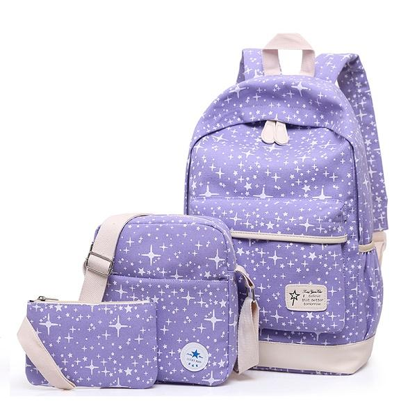 $36.05- Fashion Star Women Canvas Backpack Schoolbags School For Girl Teenagers Casual Travel Bags Rucksack Cute Printing Children