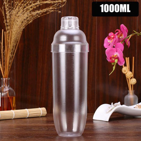 $9.50- Plastic Martini Cocktail Shaker 350Ml/530Ml/700Ml/1000Ml Wine Beverage Mixer Wine Shaker Drink Mixer For Barware Household