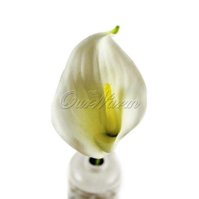 12Pcs Real Touch Decorative Artificial Flower Calla Lily Artificial Flowers For Wedding Decoration Event Party Supplies Hot