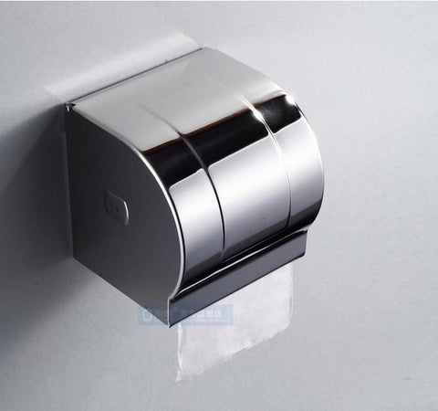 $46.80- Promotion Modern Chrome Stainless Steel Paper Holder Box Toilet Paper Holder Tissue Holder