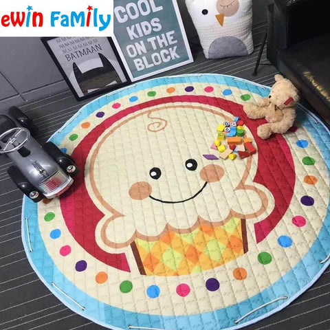 $43.15- Kawaii Floor Children Playing Blanket Carpet Dolls Storage Bag Laundry Basket Kid'S Toys Plaything Organizer Storaging Bags