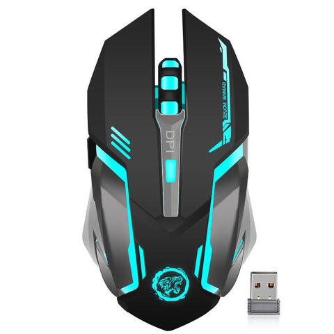$23.00- Rechargeable Wireless Gaming Mouse 7 Color Backlight Breathing Comfort Gamer Mice For Computer Desktop Laptop Pc For Pro Gamer