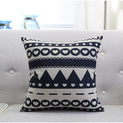 $6.44- Nordic Style Black White Throw Pillow Case Geometric Leaf Sweet Home Seat Cushion Cover For Sofa Home Decoration 45X45Cm