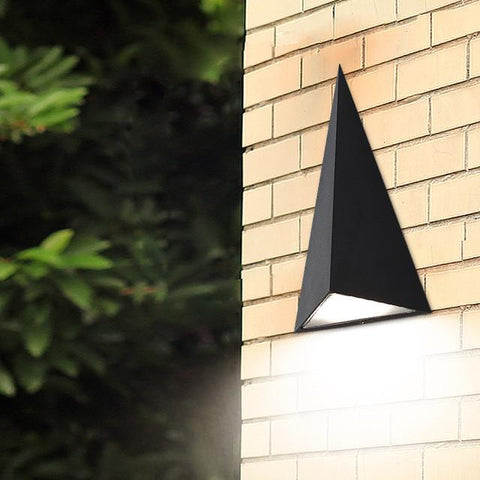 Modern Led Wall Lamp Outdoor Waterproof Outdoor Wall Lights Triangle Garden Lights Balcony Aisle Wall Lamp Ac85-256V