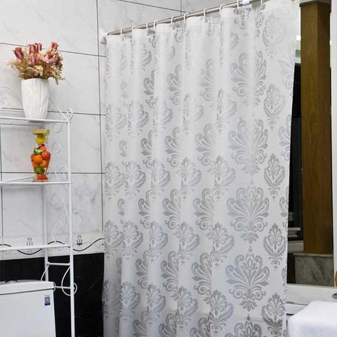 $21.85- Europe White Peva Bath Curtains Flower EcoFriendly Waterproof Shower Curtain Bathroom Product Cortina Ducha High Quality