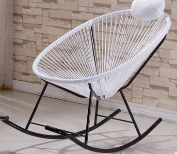 $90.78- Leisure Adult Rocker. Lunch Chairs. Lazy Waterproof Cane Leisure Chair