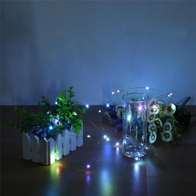 $7.90- 2 Set 30 Leds Copper Wire Lights 9.8Ft/3M String Lights For Christmas Light Festival Wedding Party Home Decoration Lamp 3 Colors