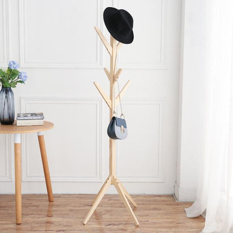 Fashion Furniture Solid Wood Living Room Coat Rack Display Stands Scarves Hats Bags Clothes Shelf