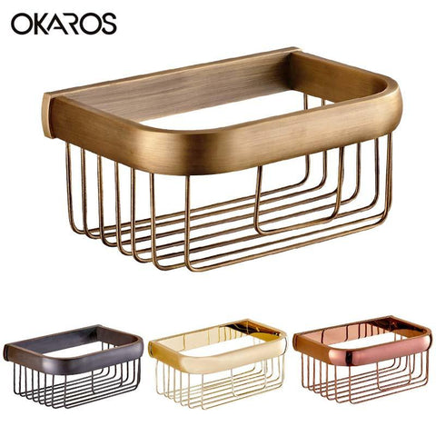 $49.01- Wall Mounted 20CmBathroom Paper Holder Paper Basket Holder Storage Basket Rack Brass Chrome Finish Bathroom Accessories