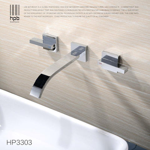 2014 4045-1 Deck Mount Single Handle Bathroom Art Square Washbasin Tempered Glass Vessel Sink W/ Waterfall Chrome Faucet Set