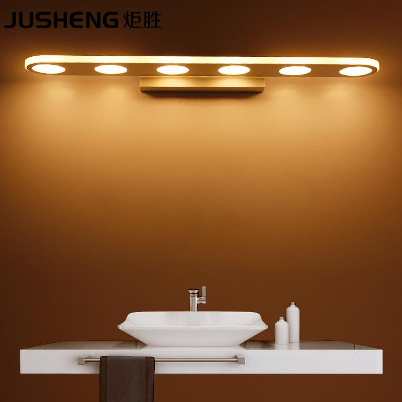 $87.16- Jusheng Modern 9/1215/18W Led Bathroom Lighting Fixtures Acylic Mirror Wall Sconces 110240V Ac