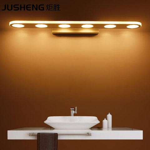 $57.19- Jusheng Modern 9/1215/18W Led Bathroom Lighting Fixtures Acylic Mirror Wall Sconces 110240V Ac