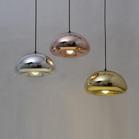 $102.00- modern pendant lamp Bathroom Mirror Light Silver Glass Mirror Shade Ball Pendant Lights Suspension Lamp led mirror glass lamp