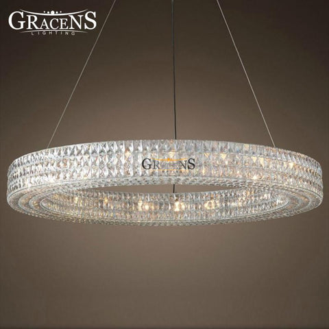 Crystal Chandelier Lightings Minimalist Creative Hollow Round Style Modern Chandeliers Lamp For Household Living Room