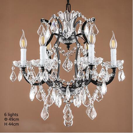 $267.40- Retro Vintage Crystal Drops Chandeliers/Large French Europe Empire Style Crystal Chandelier E14 Lighting For Hotel Living Room