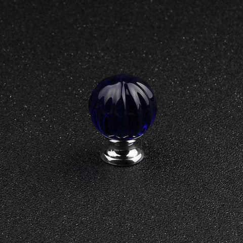 $17.96- Luxury Crystal Glass 30Mm Black Pumpkin Drawer Cabinet Knob Knob Furniture Door Handle Single Hole Diy Simple Installation