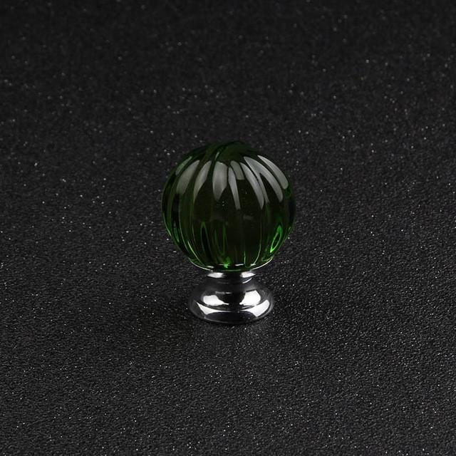 $17.96- Quality 1Pcs 30Mm Pumpkin Ball Crystal Plated Glass Pull Handle Cupboard Cabinet Drawer Door Furniture Knob Handle