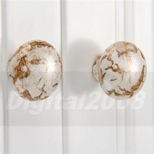 $2.85  Antique Furniture Knobs Handles Marble Ceramic Handle For Kitchen  Cupboards Cabinet Door Knobs Drawer