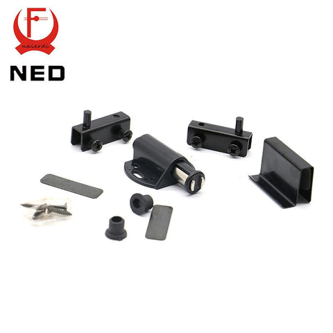 $3.65- Ned8007 Single Black Cabinet Door Stopper Glass Magnetic Push To Open Touch Catch Stop SelfAligning Kitchen Cupboard Magnet