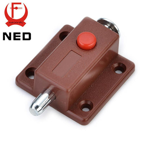 $1.48- Ned7019 Automatic Furniture Bolt Door Window Cabinet Box Latch 53*35Mm Drawer Cupboard Spring Lock Home Hardware