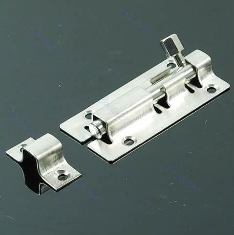 $2.55- A96 Stainless Steel Door Latch Barrel Bolt Latch Hasp Stapler Gate Lock Safety #Xy#