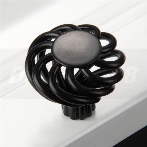 $3.80- Antique Round Birdcage Cabinet Cupboard Kitchen Drawer Door Handle Knobs Pulls Black Zinc Aolly Bird Cage Knobs Cupboard 1 Pcs
