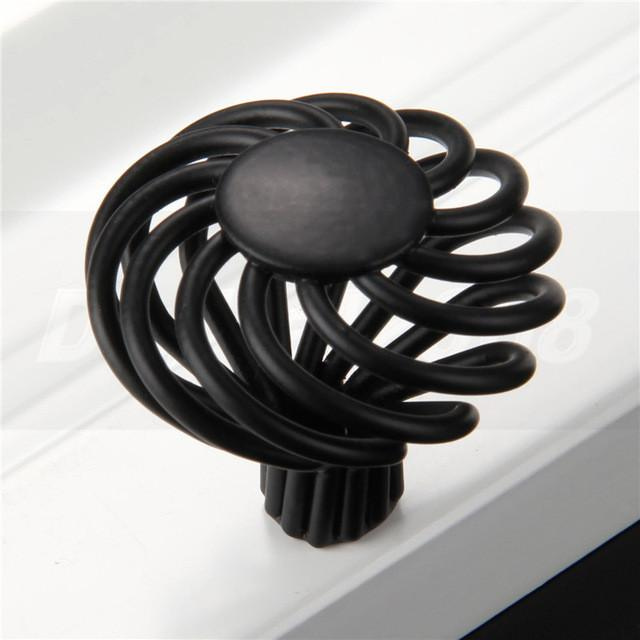 $4.75- Antique Round Birdcage Cabinet Cupboard Kitchen Drawer Door Handle Knobs Pulls Black Zinc Aolly Bird Cage Knobs Cupboard 1 Pcs