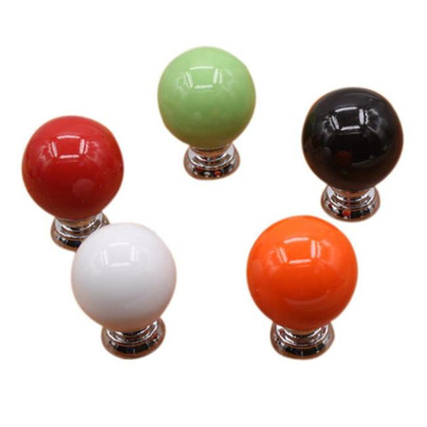 Probrico Plastic Kitchen Cabinet Knob Sliver Furniture Drawer Handle Cupboard Pull Diameter 25Mm Height 20Mm Psp4004Ag