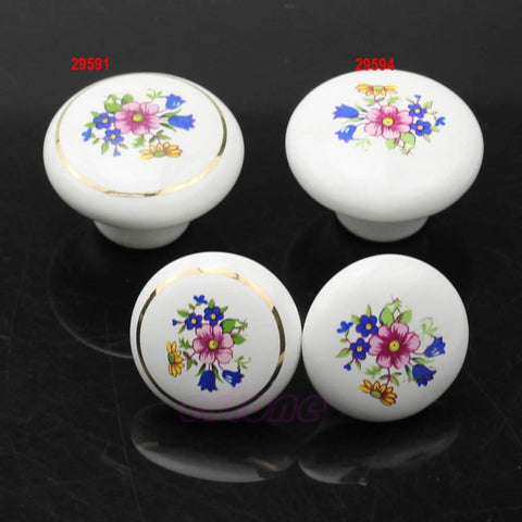 $2.57- 38Mm Round Ceramic Door Knobs Cabinet Drawer Cupboard Locker Kitchen Pull Handle