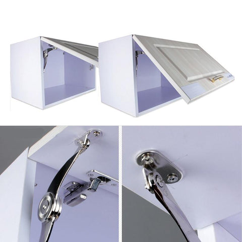 $7.41- Hot Cabinet Cupboard Door Hinges Furniture Lift Up Strut Lid Flap Stay Support Hinge High Quality