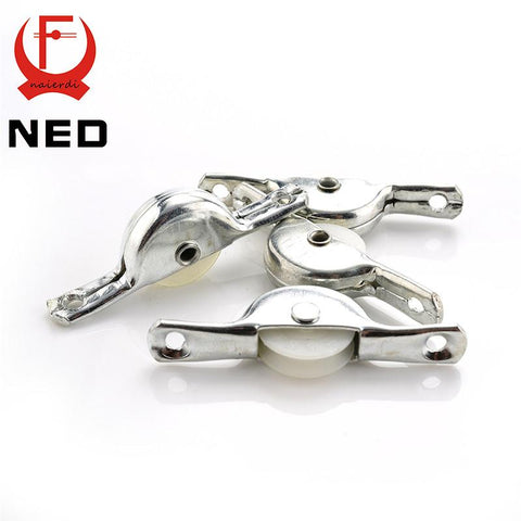 10Pcs Ned Cabinet Hidden Handles Stainless Steel Invisible Handle Circle Drawer Wardrobe Knobs W/ Screw For Furniture Hardware