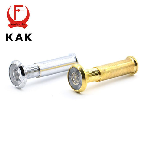 $4.62- Ned Deluxe 200Degree Lengthen Wide Angle Peephole Door Viewer Door Spyphole Viewer ChromePlated GoldPlated Wonderful Gift