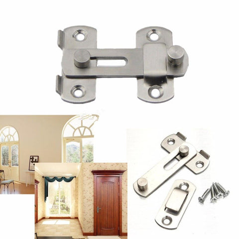 $2.79- Stainless Steel Home Safety Gate Door Bolt Latch Slide Lock HardwareScrew
