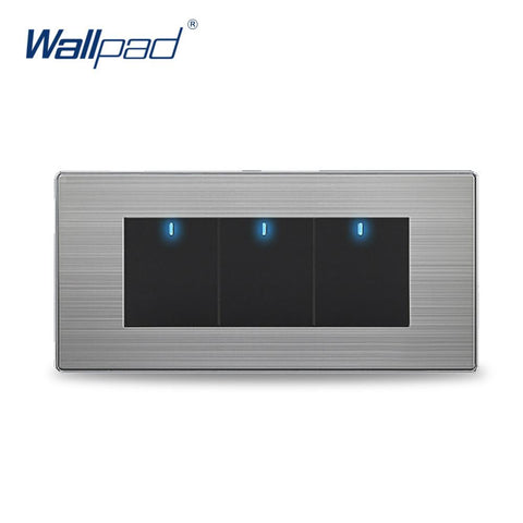 1 Gang 1 Way Au Us Standard Wallpad Black Crystal Light Touch Screen Switch 118*72Mm Wall Switch Shipping