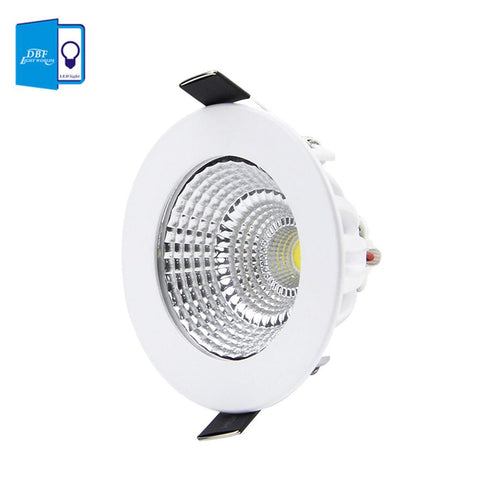 $7.87- [Dbf] Patent Product Dimmable Led Recessed Downlight 5W 7W 9W 12W 15W/18W Cob Chip Led Ceiling Spot Light Lamp White/ Warm White